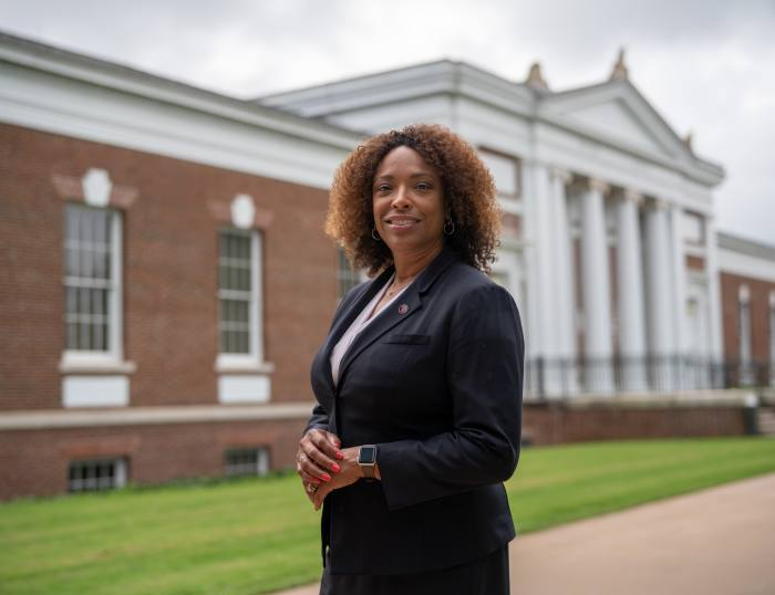 Playing her part: Nicole Thorne Jenkins, dean of Virginia's McIntire School of Commerce, says the crisis is a chance to rectify historic failings