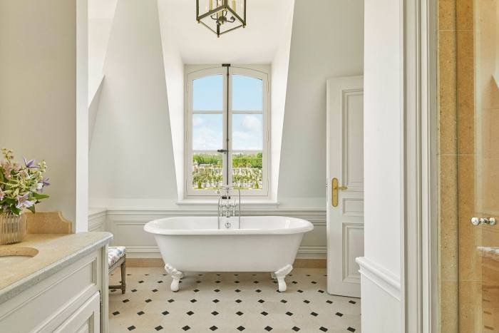 The bath, with a view on to the gardens