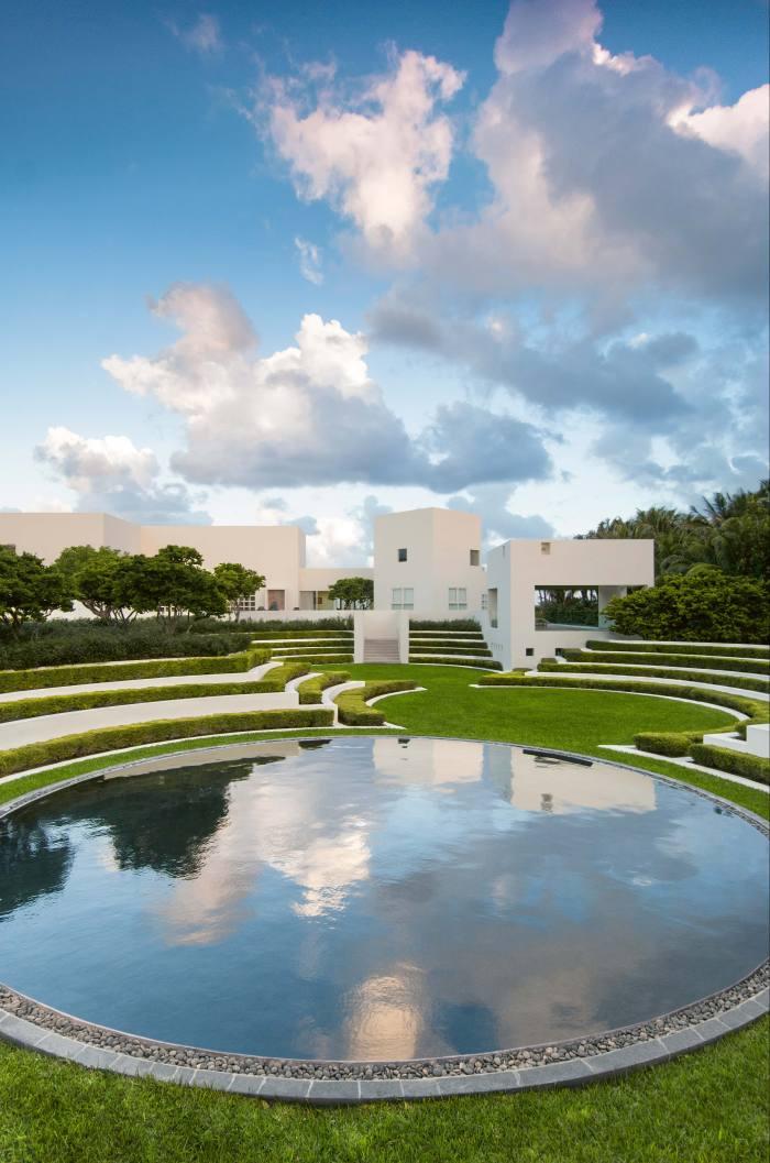 A circular pool at Caruncho's Flynn project, near Boca Raton, Florida