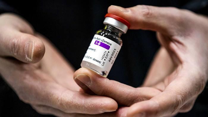 A vial of the Oxford/AstraZeneca Covid-19 vaccine