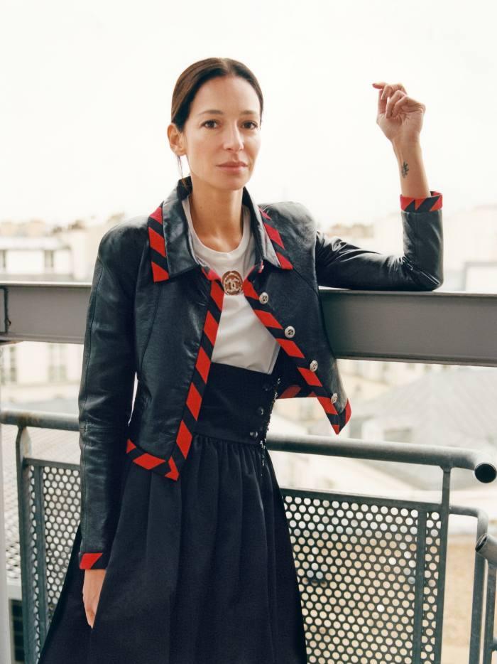 Amanda Sanchez wears Chanel s/s 2020 ready-to wear