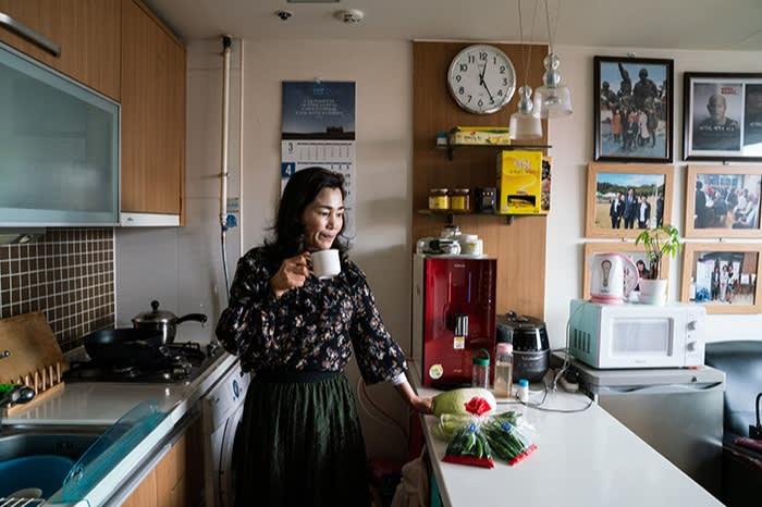 Lee Soon-geum in her office