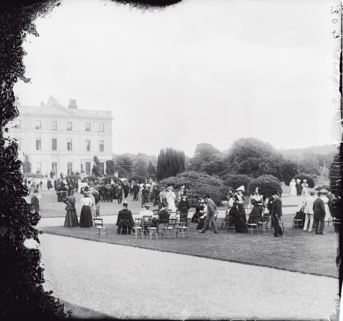 A garden party at Curraghmore House, County Waterford, in the early 1900s
