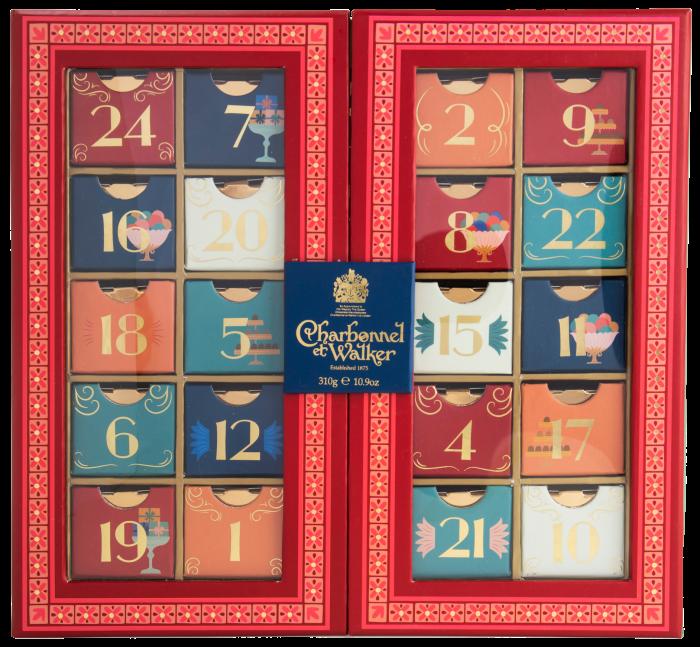 Charbonnel et Walker's calendar contains milk and dark chocolate truffles