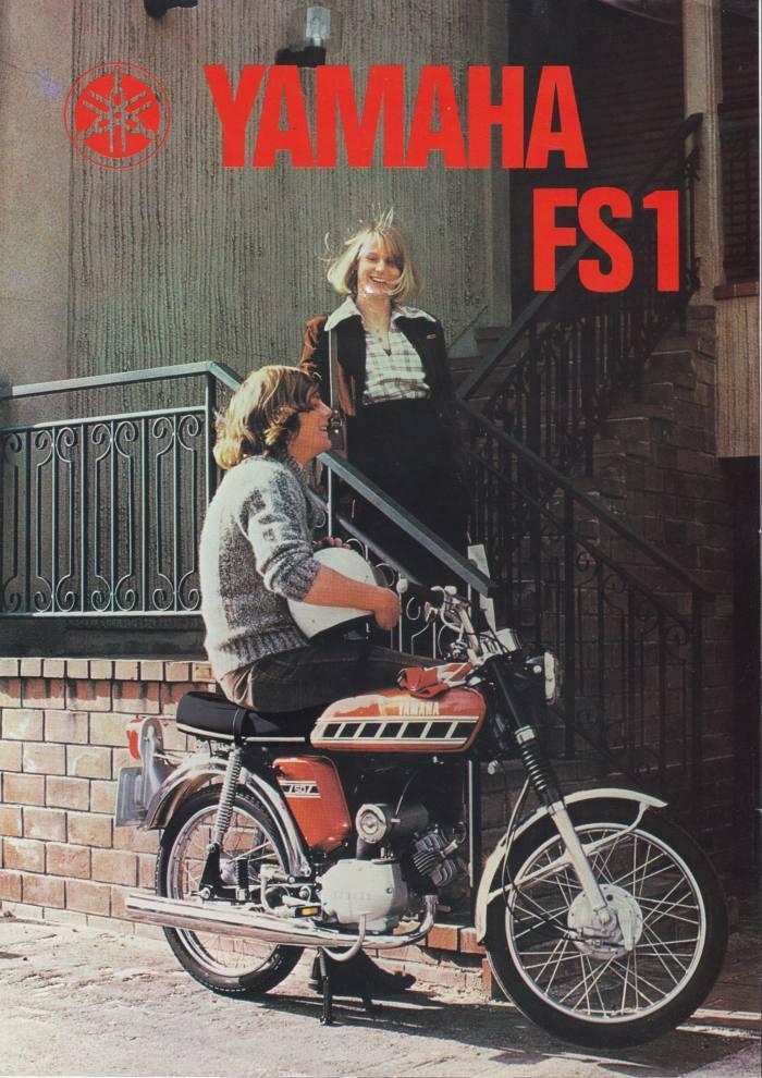 Yamaha FS1-E from a 1976 sales brochure