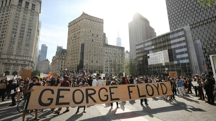 Protests in New York days after the killing of George Floyd in May