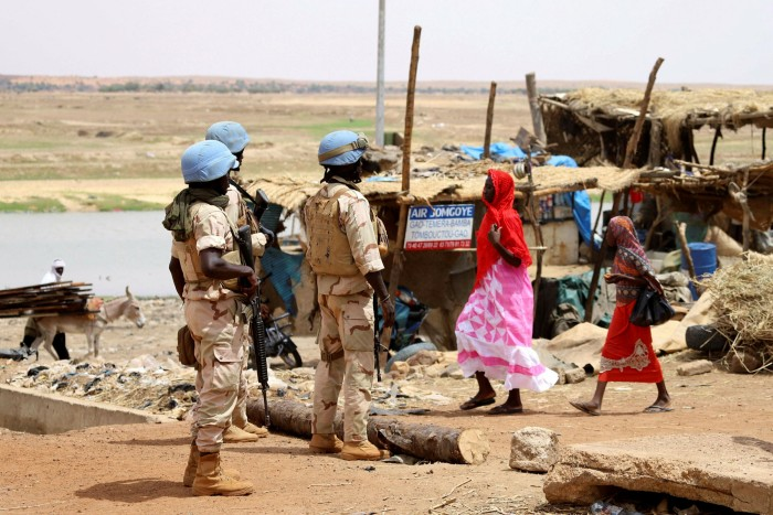 UN peacekeepers in Mali, where thousands have been killed and millions displaced in violence that began with the fall of the north after the return of thousands of armed mercenaries who had worked for Gaddafi