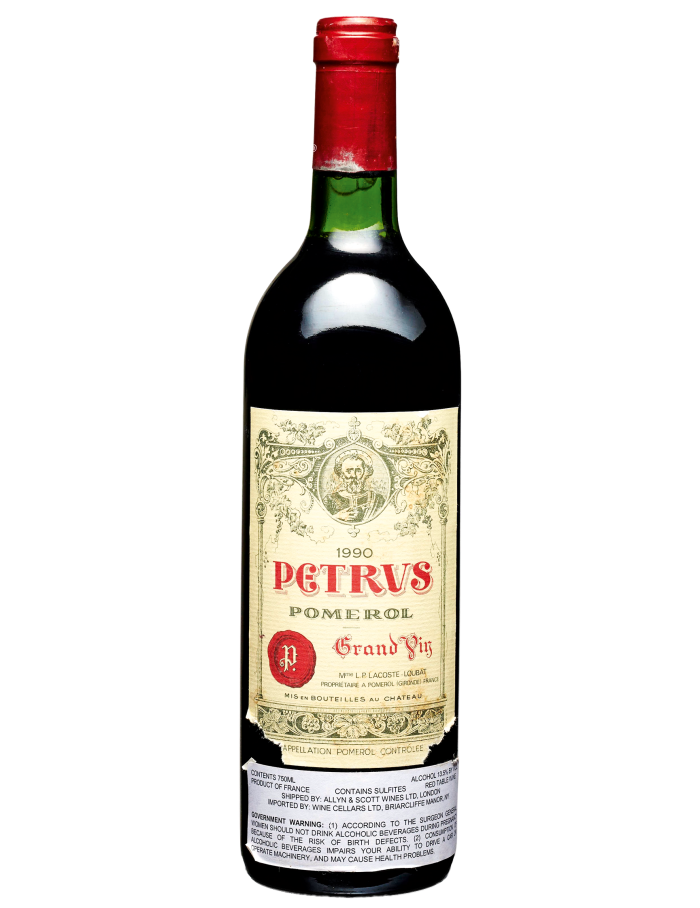 A case of Pétrus 1990 sold at Christie's New York for $40,000 in March