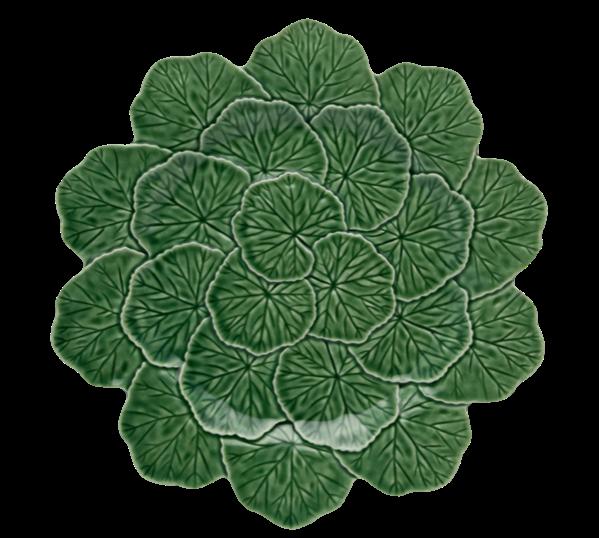 Bordallo Pinheiro geranium-leaf charger plate, £32, velvetvictoriahome.co.uk