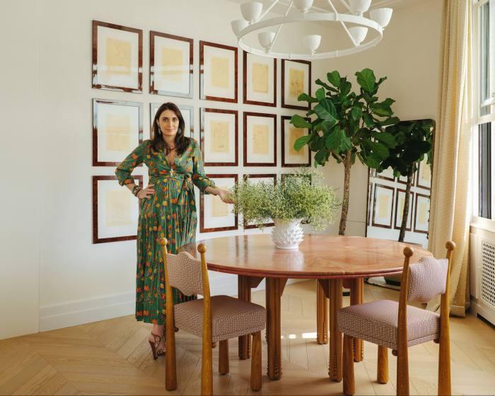Laura Gonzalez at home in Paris