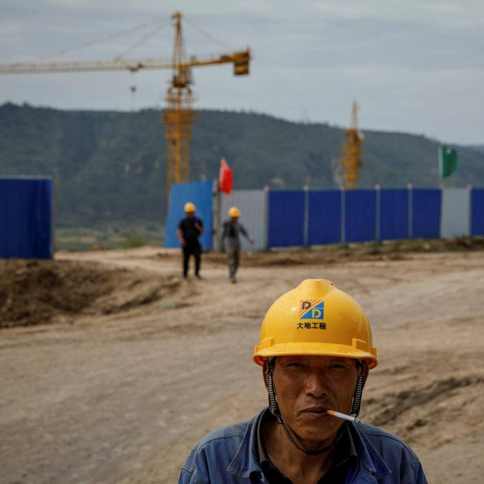 A construction site of the Xinzhuang coal mine that is part of Huaneng Group's integrated coal power project near Qingyang, Ning County, Gansu