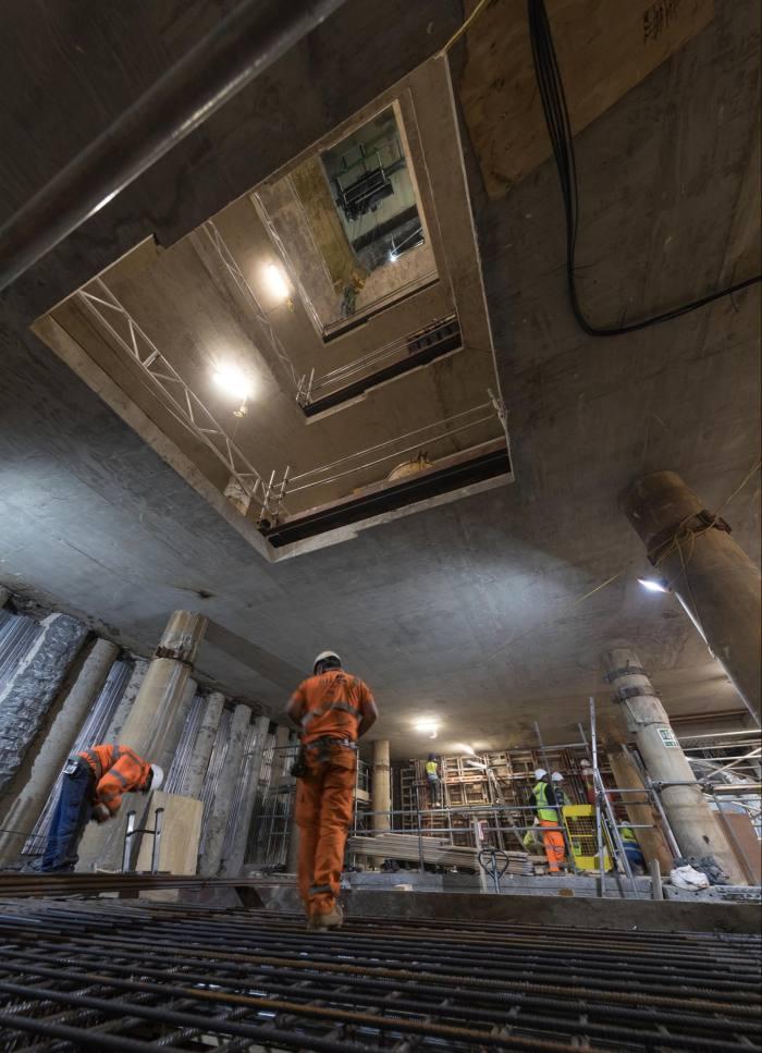 The multi-storey expansion five floors beneath Claridge's