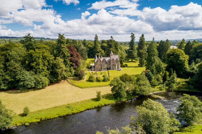 The Gart, a 13-bedroom baronial house in Perthshire, Scotland, dates from 1835. It is on sale through Savills for offers over £1.75m
