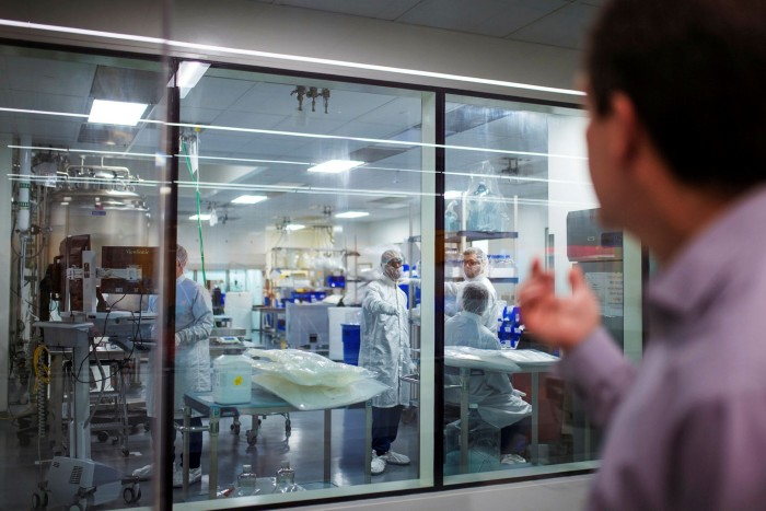 Juan Andres of Moderna at the company's facility in Massachusetts. Baillie Gifford has now taken a position in the vaccine-maker
