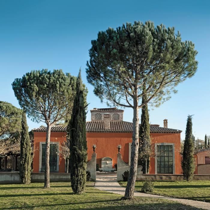 The hotel Castello di Reschio