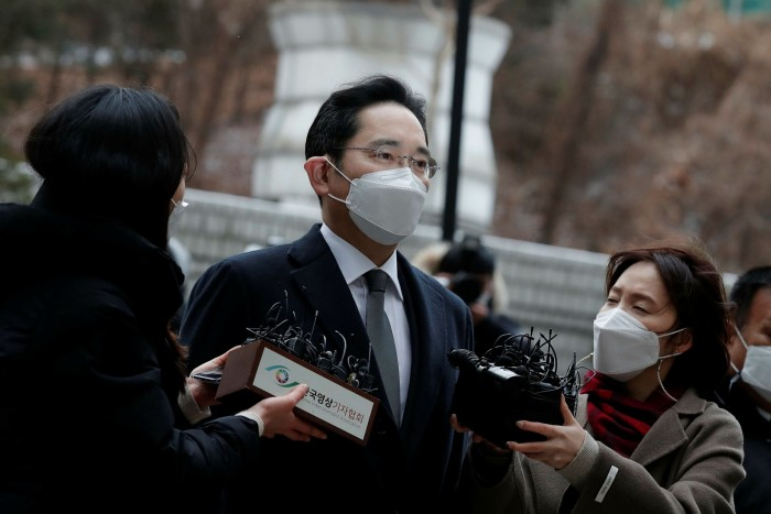 Lee Jae-yong: the jailed Samsung head is still being investigated over an alleged $3.9bn accounting fraud, linked to his succession. Samsung denies wrongdoing