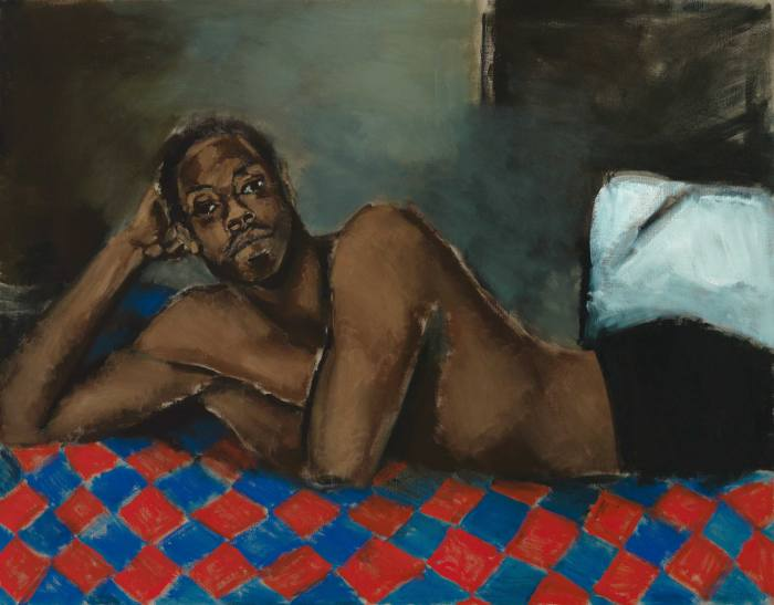 Tie the Temptress to the Trojan, 2016, from Lynette Yiadom-Boakye: Fly in League with the Night