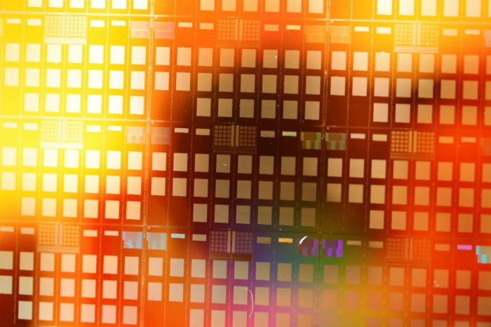 A 300 millimetre wafer used for semiconductor research