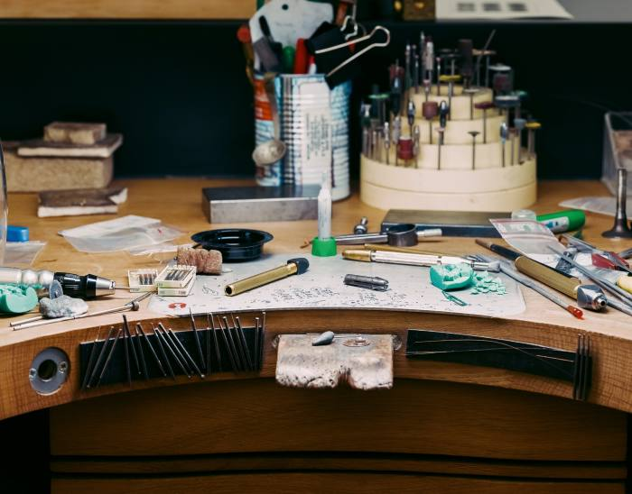 A jeweller's workbench at Chaumet
