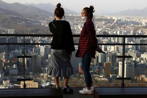 In South Korea about a third of confirmed cases were in people aged 30 or under