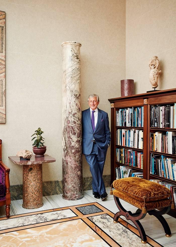 Masterpiece London chairman Philip Hewat-Jaboor in his Jersey home