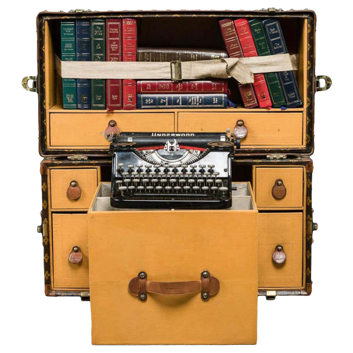 Underwood in a Louis Vuitton trunk, £42,595, from 1stdibs