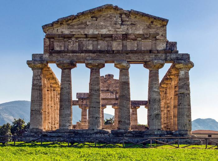 The Temple of Athena at Paestum in Campania, Italy