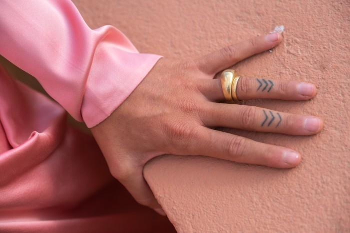 Her custom-made wedding ring