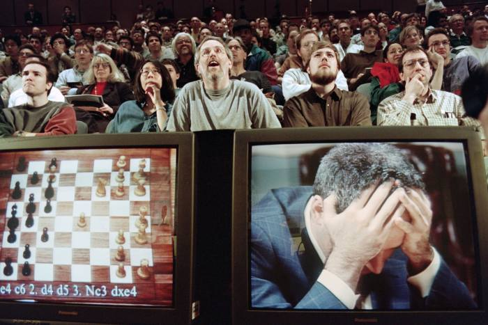 The first AI milestone that attracted global attention was when world chess champion Garry Kasparov was beaten by IBM's Deep Blue computer program in 1997