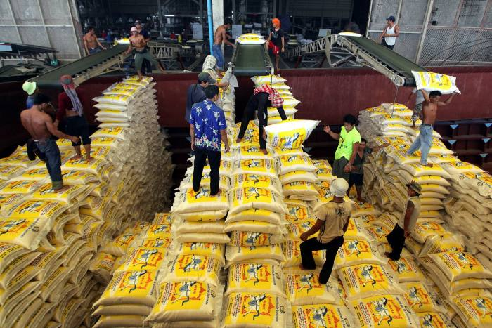 Rice exported to the UAE from Thailand in 2009