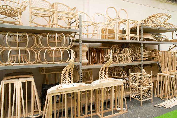 Lytle traces her passion for rattan to verandas and a painting of her grandfather sitting in a chair in the 1920s