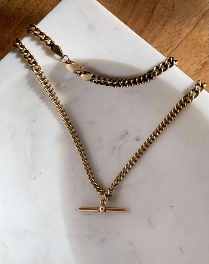 A necklace from Andrew's grandmother
