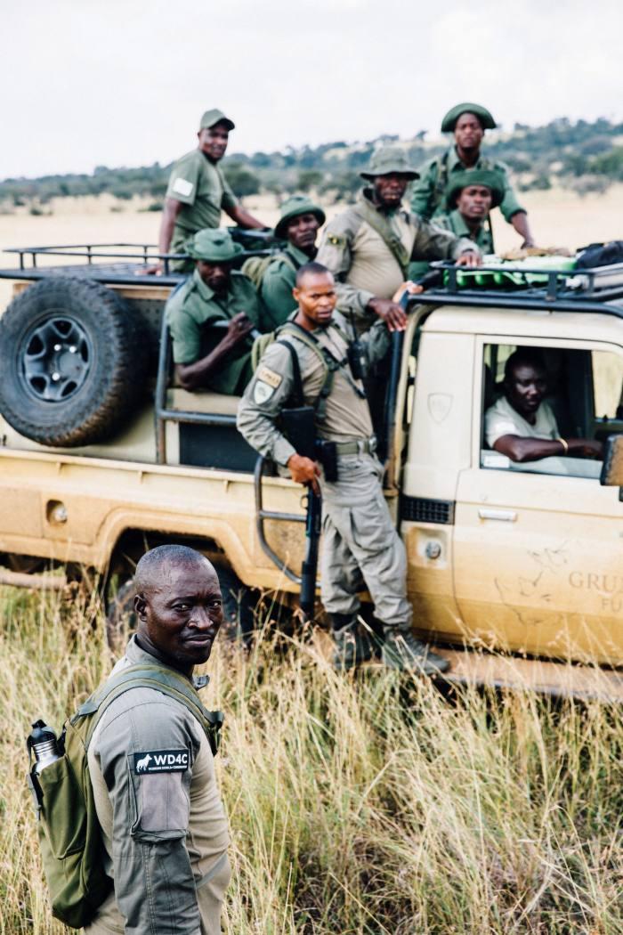 The Grumeti Fund's special operations group onan anti-poaching patrol