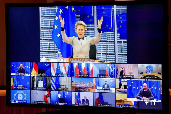 Video calls became inescapable, even for those at an EU summit
