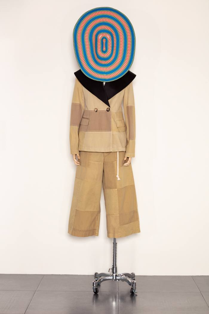 JW Anderson's khaki patchwork twinset