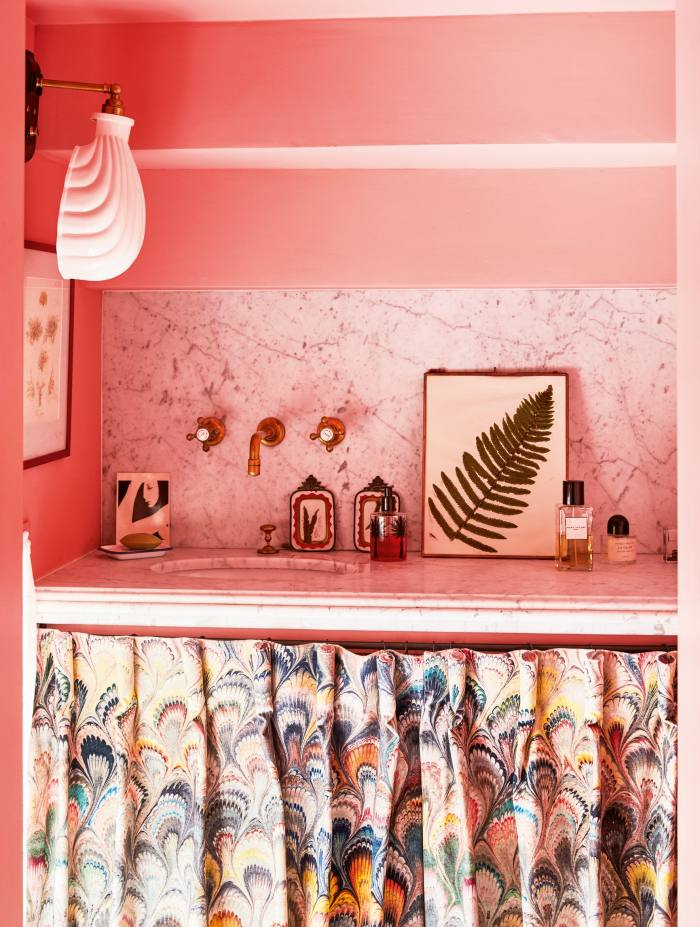 The powder room in Heuman's west London home
