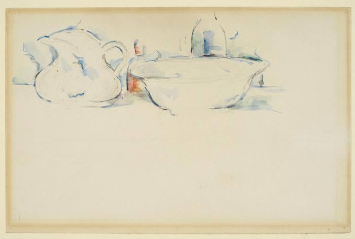 'Still Life, Lavabo et Jug', Paul Cézanne, c1885-90, watercolor over pencil on paper