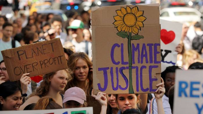 Rising tide: young people take to the streets of New York to demand action on climate change