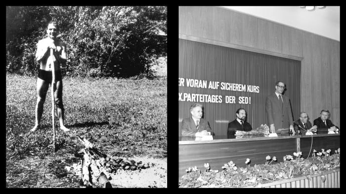 Left: The first picture of Blake's new life in the USSR, following his escape from Wormwood Scrubs prison in 1966. Right: In the 1970s and 1980s Blake was a frequent guest of the East German Stasi