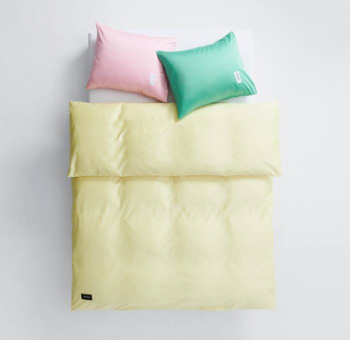 Magniberg bedding in Blossom Pink, Fresh Green and Lemonade, from £32