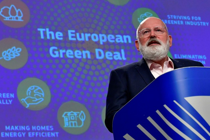 Frans Timmermans, EU vice-commissioner, says Europe's carbon pricing instrument is a cornerstone of the its environmental agenda 'because it's been so successful'