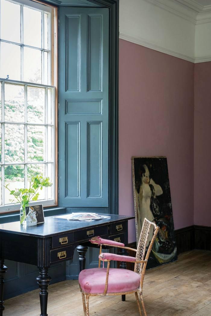 Farrow & Ball's Cinder Rose Estate emulsion