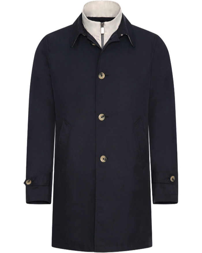 Canali polyester raincoat with detachable padding, £990