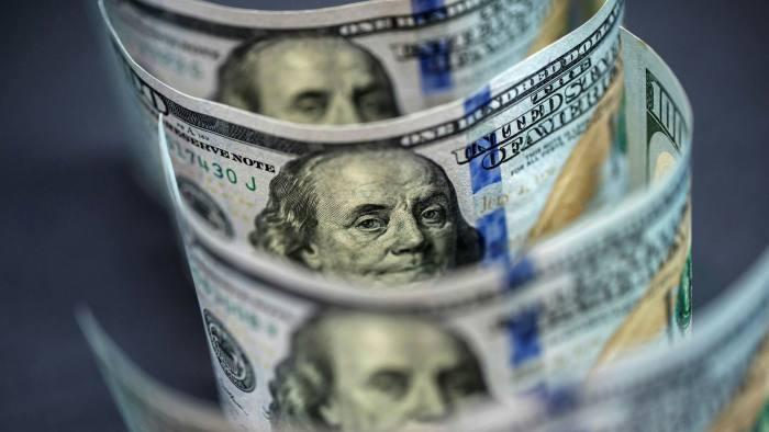 Close-up of $100 banknotes
