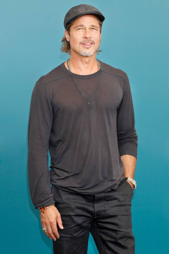 Brad Pitt wearing Raleigh jeans