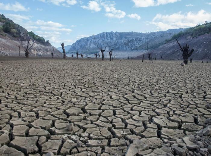 Desertified land in Leon, Spain