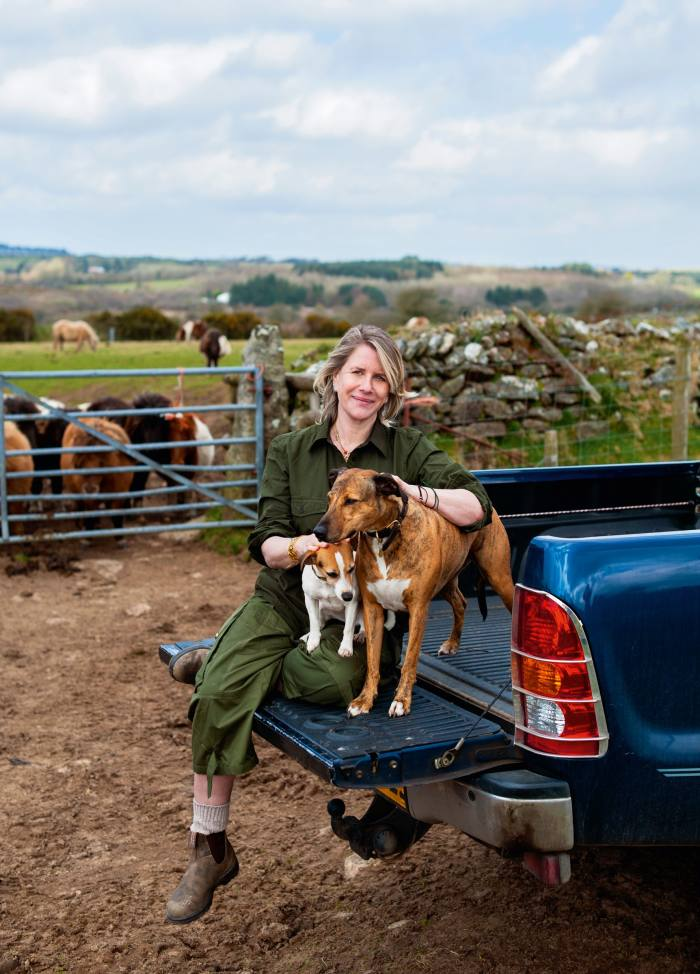 """Golfar says the truck has come into its own on the """"labyrinthine"""" roads of south Cornwall, where she lives"""