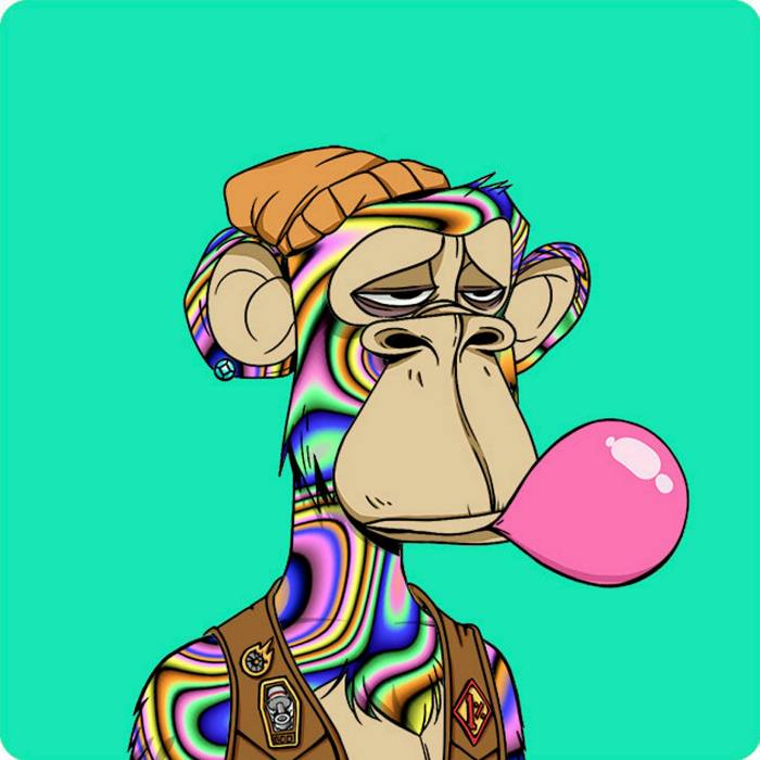 A Bored Ape. Different versions of the computer-generated cartoon change hands for thousands of dollars