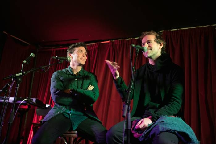 Cillian Murphy interviewing Bryce Dessner at Songs From a Safe Harbour
