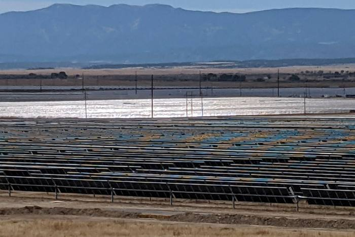 The 300MW of power from the array's 750,000 panels will feed the expansion of Pueblo's steel mill
